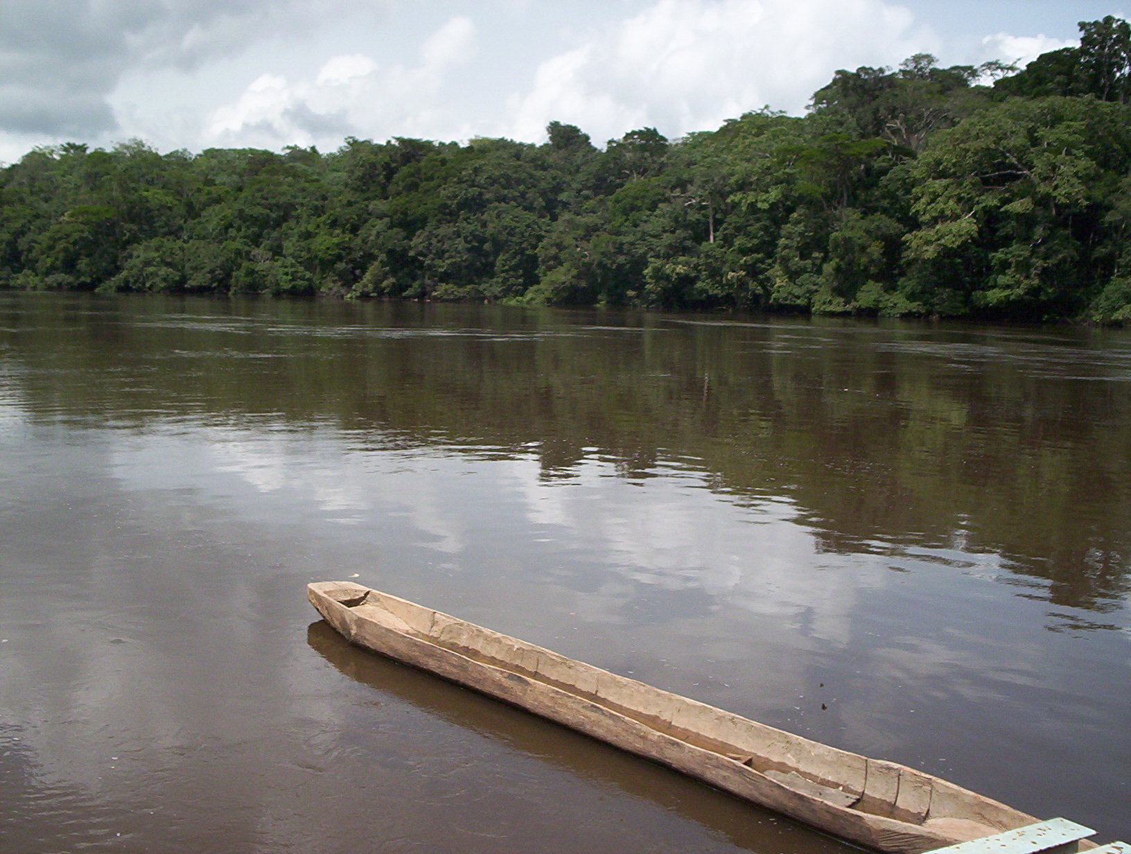 Dja_River_and_pirogue